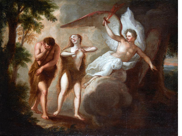 Dutch School, 18th Century The Expulsion of Adam and Eve