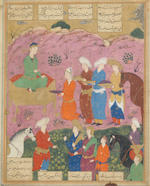 Two Safavid miniatures early 16th century - Bought at Phillips