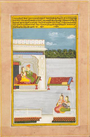 Two Ragamala scenes:.... Jaipur, circa 1800?(2)