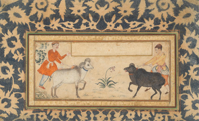 Two goatherds Mughal, early 17th Century