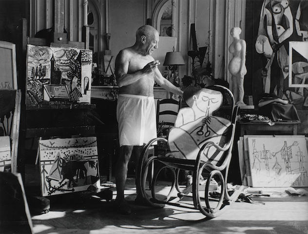 André Villers, Picasso 'Atelier de la Californie', Cannes, 1956/printed later