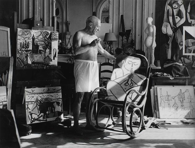 André Villers, Picasso 'Atelier de la Californie', Cannes, 1956/printed later
