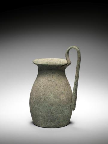 A Roman bronze jug