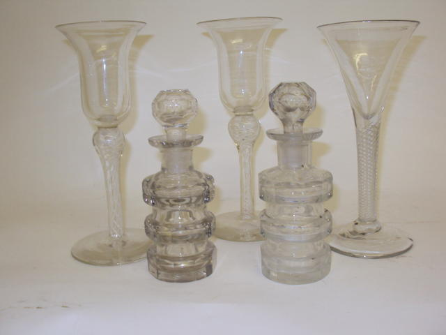 A collection of 19th century glasses