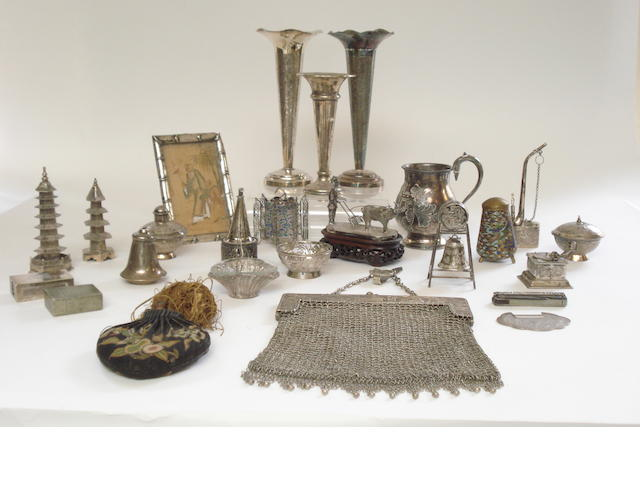 A collection of white metal models and miscellanea Late 19th/early 20th century