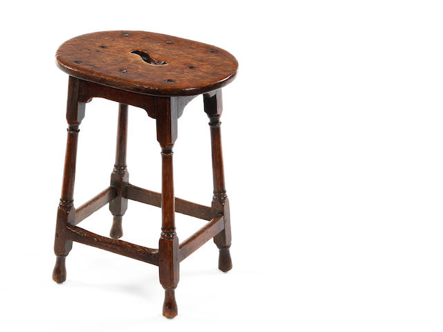 An oak joint stool 18th century