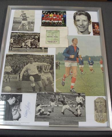 World Cup 1966 hand signed montage