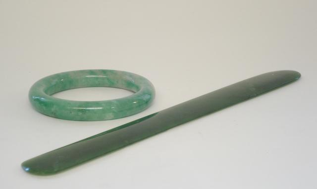 A jadeite bangle and a page turner