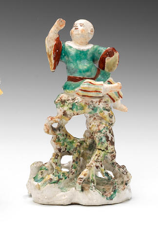 A very rare Derby Chinoiserie figure, circa 1757-60