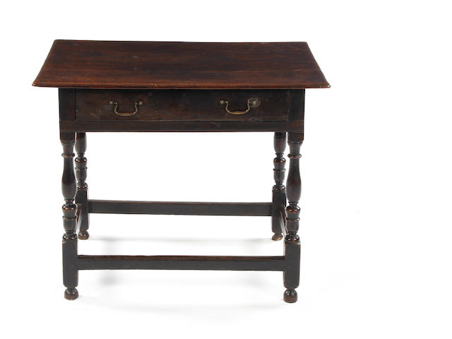 An oak side table Circa 1700