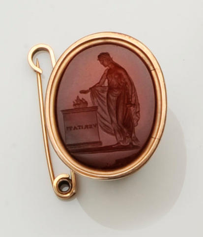 An early 19th century fob seal