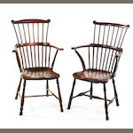 Two similar beech and elm Windsor chairs First-half 19th century, West Country