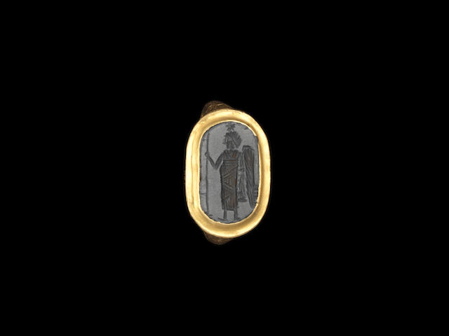 A Byzantine haematite intaglio