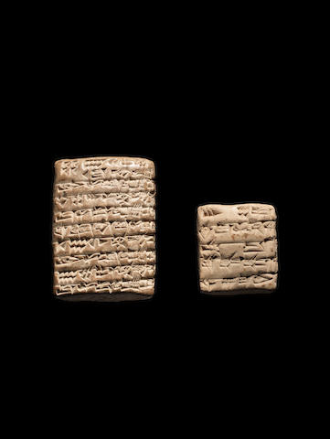 Two Mesopotamian cuneiform clay tablets 2