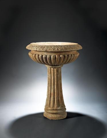 A Roman marble labrum