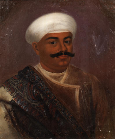 A portrait of a Maharajah of Burdwan first half of the 19th Century