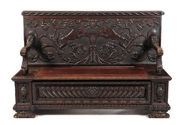 Italian carved Settle