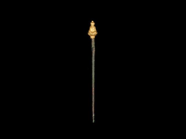 A Romano-Egyptian gold Harpokrates terminal