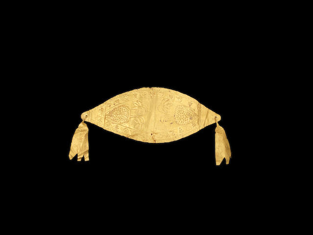 A Greek sheet gold diadem