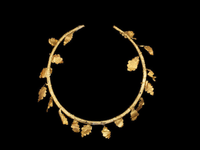 A Hellenistic gold oak wreath