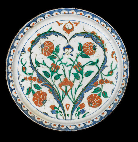 An Iznik polychrome pottery Plate Turkey, circa 1575