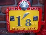 An Avery Hardoll model CH1 hand cranked petrol pump, patented 1928,