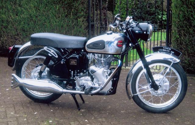 1961 Velocette 499cc Venom Clubman Frame no. RS15792 Engine no. VM4801