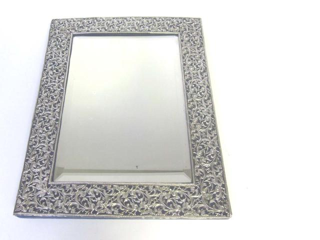 A metalware mounted table mirror, by Samuel Walton Smith, Birmingham 1888,