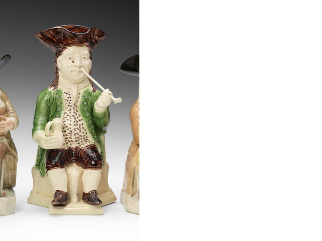 A rare Wood -type Squire Toby jug, circa 1780