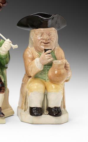 A Ralph Wood 'Mould 51' Toby jug, circa 1782-95