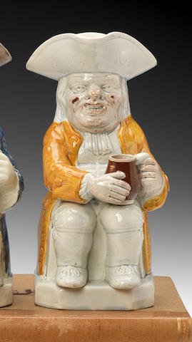 A Staffordshire pearlware Toby jug, circa 1785-95