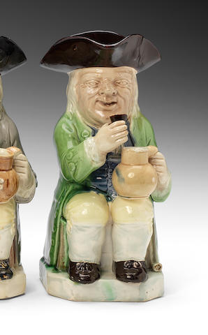 A Ralph Wood 'mould 51' Toby jug, circa 1782-95