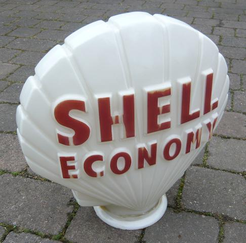 A Shell Economy glass petrol pump globe,
