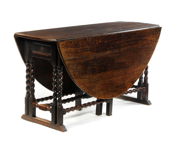 17th Century oak double gateleg table
