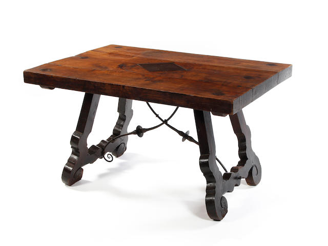 A Spanish chestnut centre table 18th century