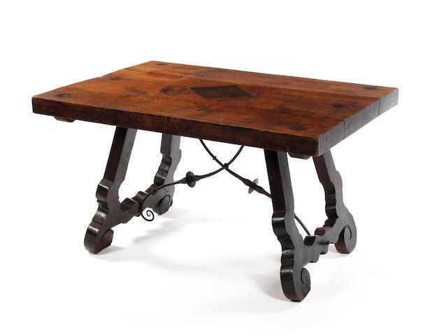 A Spanish chestnut centre table 18th century