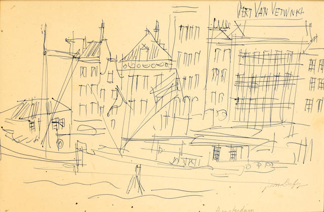 Jean Dufy (French, 1888-1964) Amsterdam 22 x 34cm (8 11/16 x 13 3/8in)