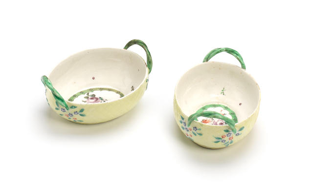 A very rare pair of West Pans baskets, circa 1764-70