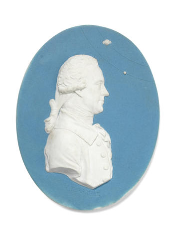 Wedgwood portrait medallion of Sir William Herschel, circa 1785