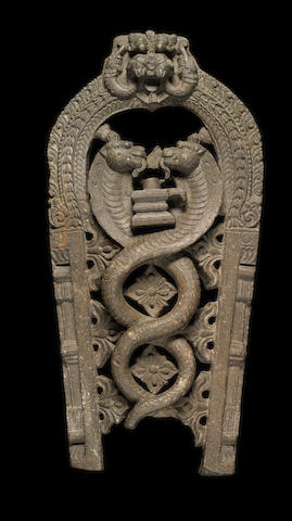 A stone stele, possibly Indian, 13th century Deccan (?)