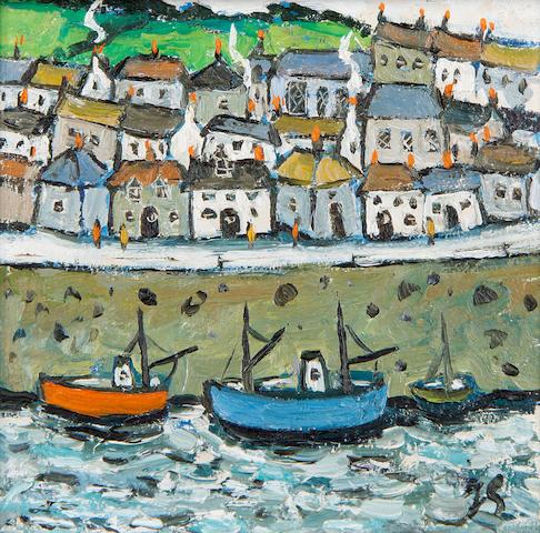 Joan Gillchrest (British, 1918-2008) Cornish harbour