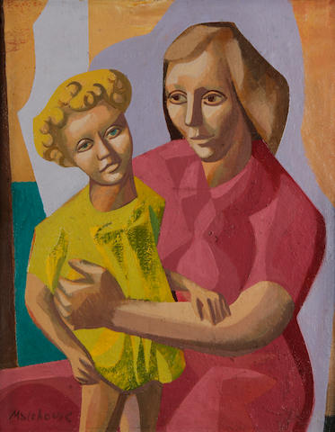 Eric Malthouse (British, 1914-1997) Mother and child, c.1950