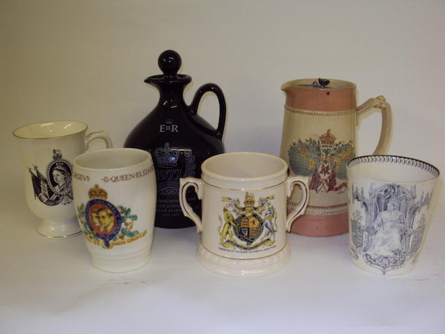 A collection of commemorative china
