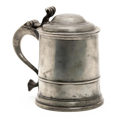 A one and a half-pint dome lidded tankard, circa 1720
