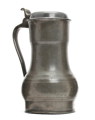 A Dutch flagon Rembrandt Kan, circa 1700