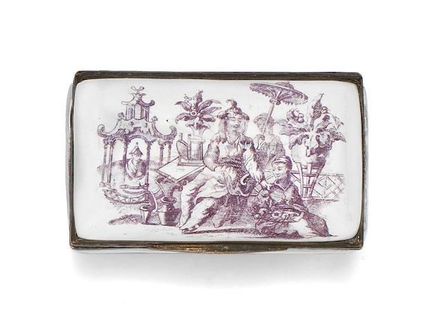 Two Birmingham enamel snuff boxes, circa 1765