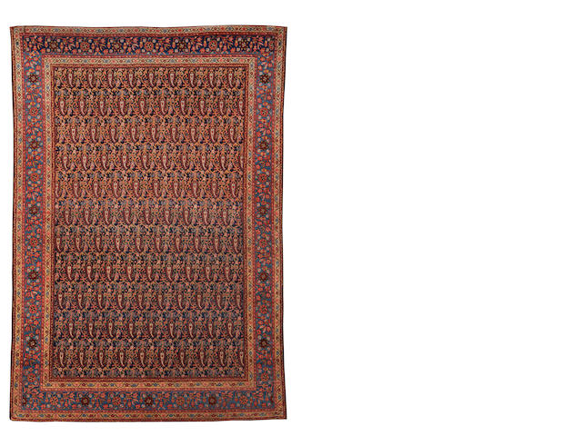 A Malayir rug, West Persia, circa 1910, 6 ft 4 in x 4 ft 6 in (193 x 137 cm) minor wear, minor losses to one end