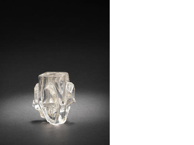 A Fatimid carved rock crystal Fragment Egypt, 10th Century