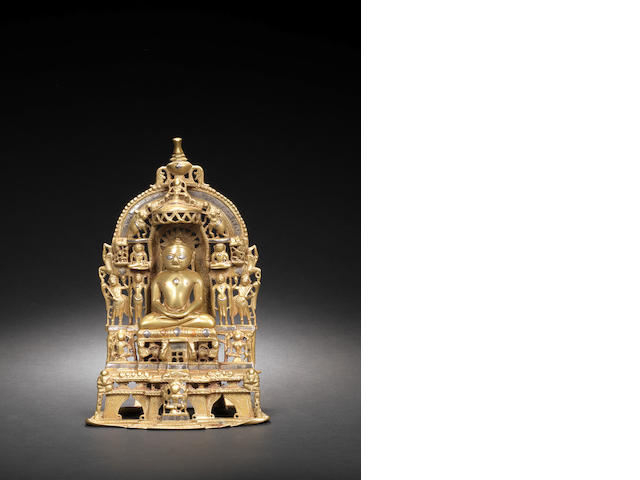 A Jain bronze shrine