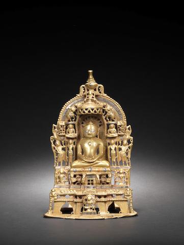 A Jain bronze shrine